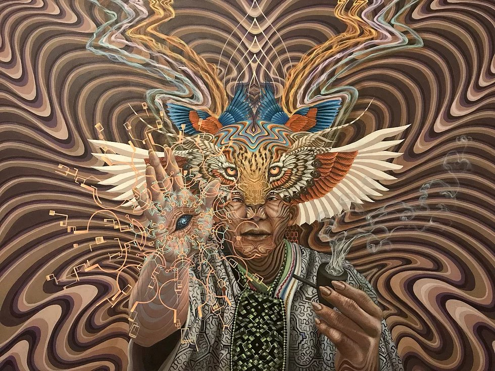 Ayahuasca-Inspired Art by Luis Tamani